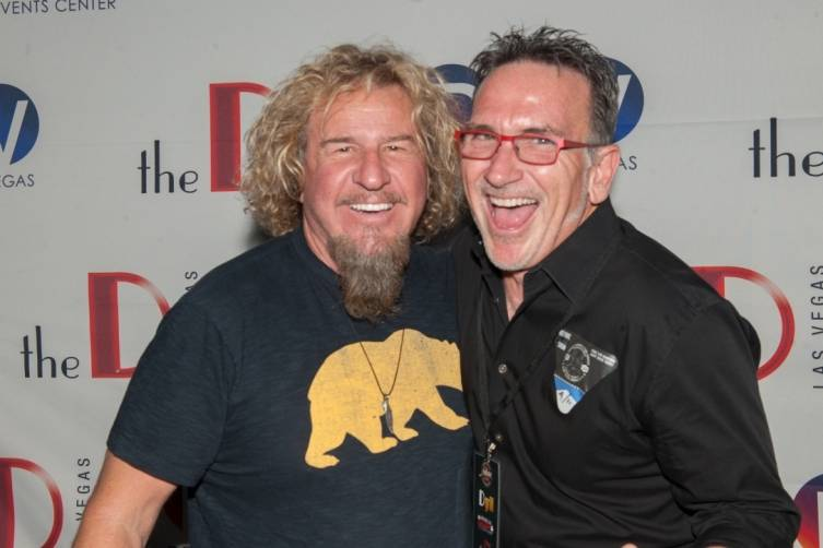 Sammy Hagar and Chef Rick Moonen at Downtown Las Vegas Events Center 4.11.15