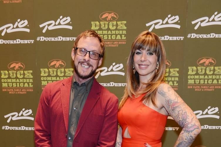 Scott Shriner and Jillian Lauren at World Premiere of DUCK COMMANDER MUSICAL 4.15.15_Credit Denise Truscello