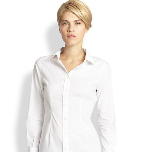 Saks Fifth Avenue Collection Fitted Button-Down Shirt ($74)
