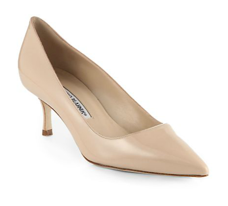 Manolo Blahnik BB Patent Leather Pumps ($595)