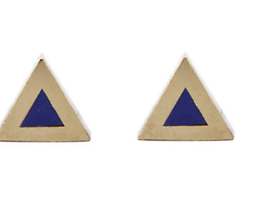 Jennifer Meyer Triangular Studs ($395)