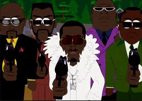 P.Diddy, who is developing his own South Park-esque series, as depicted on South Park