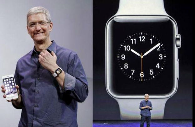 Tim Cook Promotes the Apple Watch  image via the hindu.com