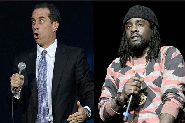 Jerry Seinfeld and Wale, image via rapbasement