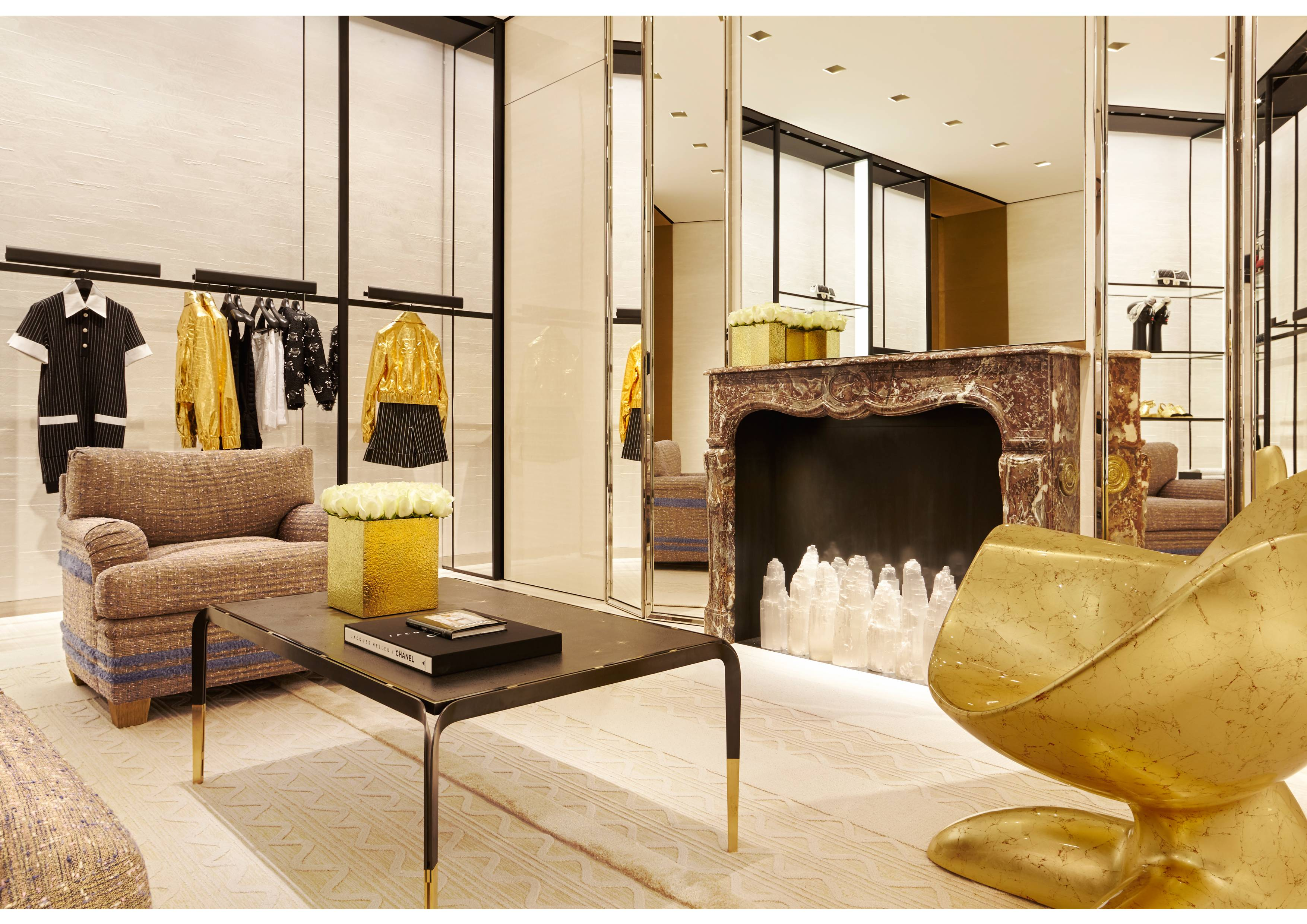 la chanel at south coast plaza gets a golden makeover south coast plaza boutique pictures by sam frost 007