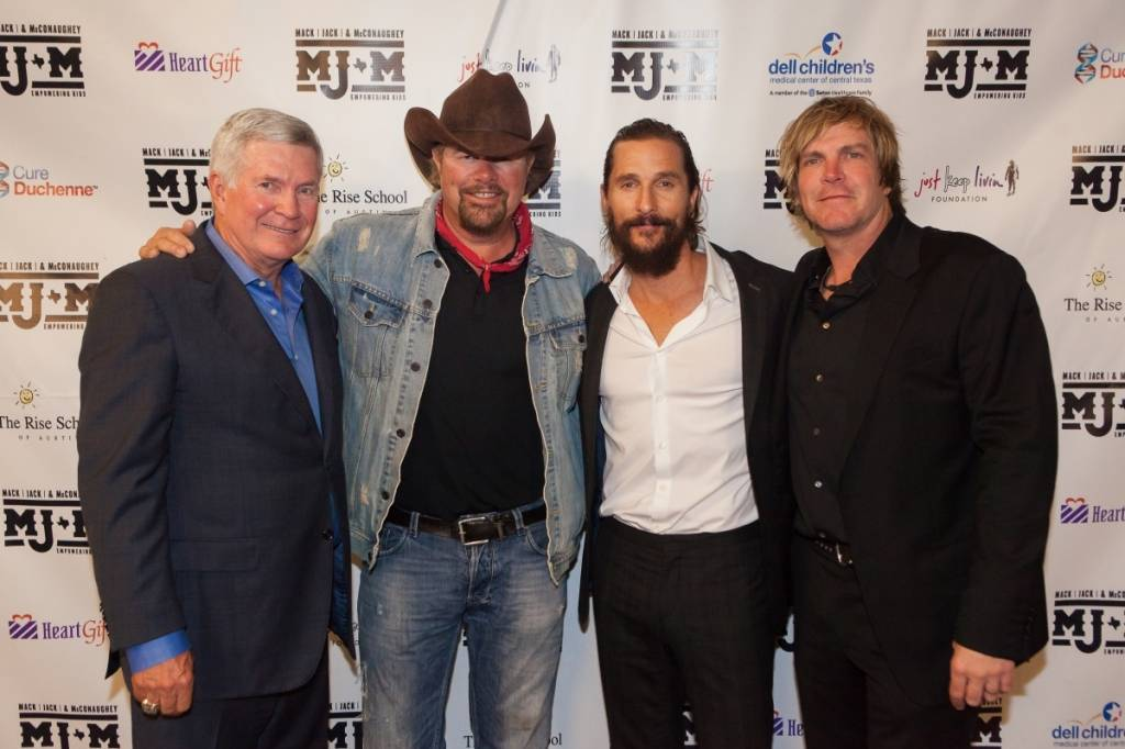 Jack Brown, Toby Keith, Matthew McConaughey and Jack Ingram