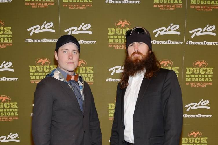 Tommy McDowell and Jase Robertson at World Premiere of DUCK COMMANDER MUSICAL 4.15.15_Credit Denise Truscello