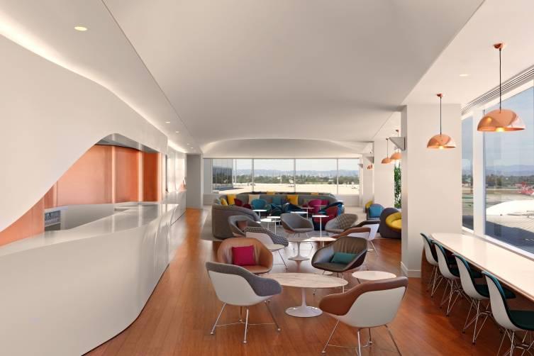 Virgin Atlantic LAX Clubhouse Lounge