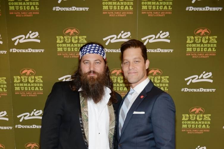 Willie Robertson and Ben Thompson at World Premiere of DUCK COMMANDER MUSICAL 4.15.15_Credit Denise Truscello