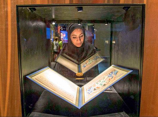 A woman peers at a replica of the Nobel Medal and Nobel Diploma of Georg von Bekesy, the 1961 Nobel Laureate in Physiology and Medicine. There's still time to catch the Nobel Prize museum in Dubai. It runs through April 29 at Burj Khalifa's Annex to the left of the Armani Hotel entrance.