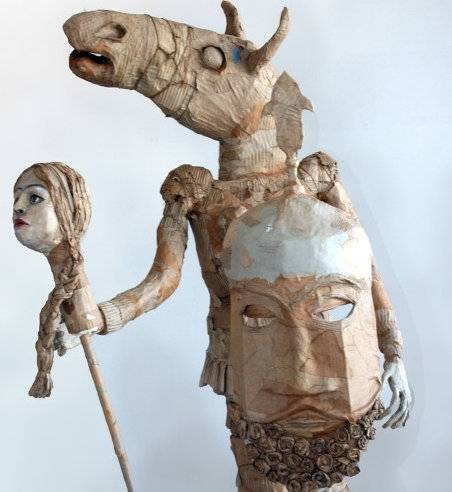 Yasmin Sinai's exhibit, The Act of Gordafarid, the Female Warrior, is on display at the Courtyard Gallery through April 20th.