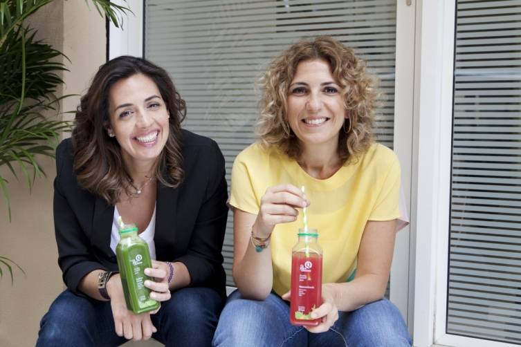 Hana Alireza is pictured with her friend and co-founder, of Qi Juice Cleanses, Leila Fakih Nashabe.