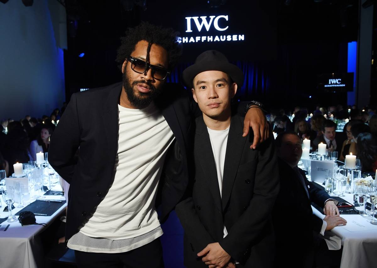 "Designer Maxwell Osborne and Style Director Eugene Tong attend the IWC Schaffhausen Third Annual ""For the Love of Cinema"" Gala during the Tribeca Film Festival on April 16, 2015 in New York City. (Photo by Dimitrios Kambouris/Getty Images for IWC)"