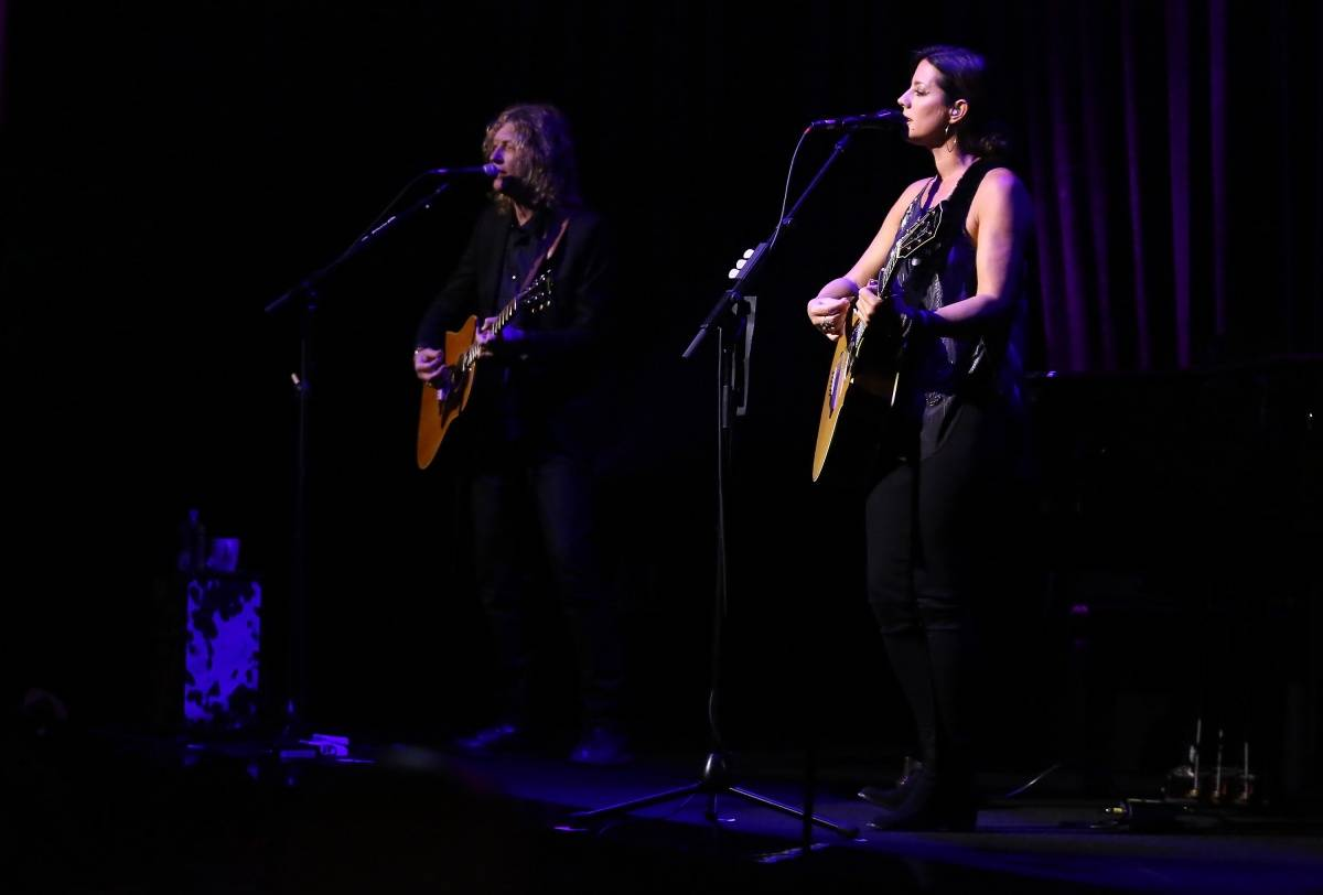 "Sarah McLachlan performs on stage at the IWC Schaffhausen Third Annual ""For the Love of Cinema"" Gala during the Tribeca Film Festival on April 16, 2015 in New York City. (Photo by Astrid Stawiarz/Getty Images for IWC)"