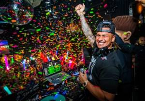 LAS VEGAS, NV - May 23: DJ Pauly D at Body English at Hard Rock Hotel & Casino in Las Vegas, NV on May 23, 2015. © Erik Kabik Photography/ Retna Ltd. ***HOUSE COVERAGE***