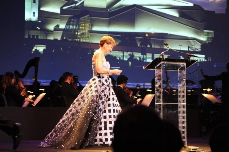 Adrienne Arsht on Lynn Wolfson Stage