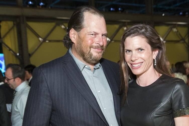 Marc Benioff and Lynne Benioff