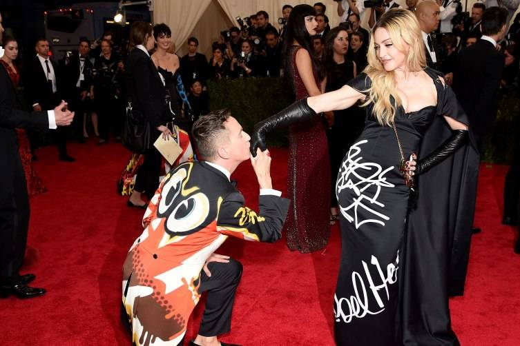 "NEW YORK, NY - MAY 04:  Jeremy Scott and Madonna attend the ""China: Through The Looking Glass"" Costume Institute Benefit Gala at the Metropolitan Museum of Art on May 4, 2015 in New York City.  (Photo by Dimitrios Kambouris/Getty Images)"