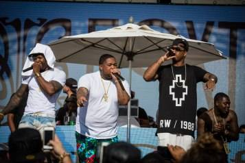 50 Cent, DJ Mustard and Jeremih give exclusive performance at Foxtail Pool Club during FIght Weekend_Seva Kalashnikov