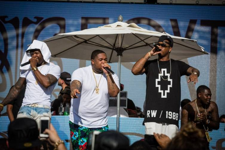 50 Cent, DJ Mustard and Jeremih give an exclusive performance at Foxtail Pool Club.
