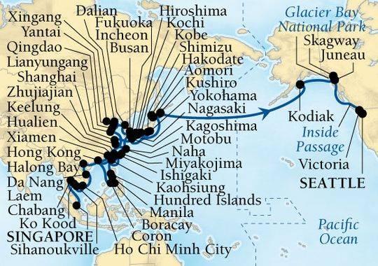 Map via Seabourn