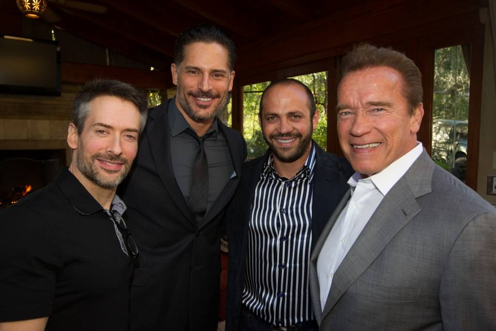 Joe Manganiello and Arnold Schwarzenegger at Westime's Charity Poker Tournament