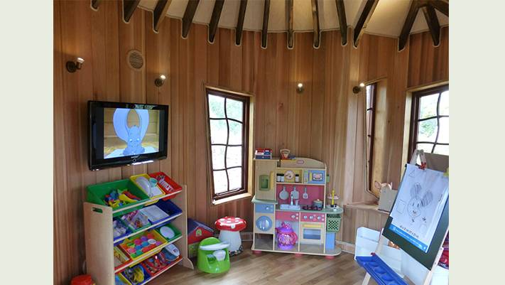 Interior of the Alice and Wonderland Tree House