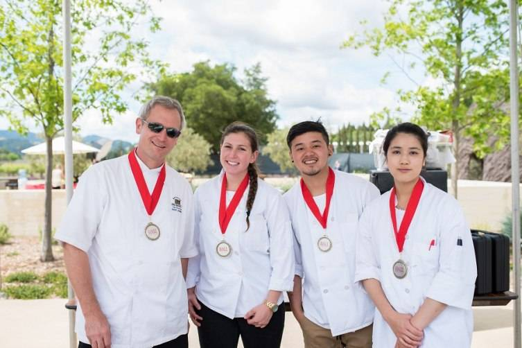 People's Choice 2nd Pl:  Chef Victoria Acosta's culinary team from, The Grill at Meadowood & Charity reps from Community Resource for Children