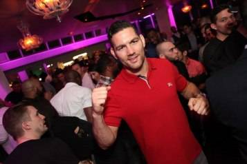 Chris Weidman partying at Ghostbar