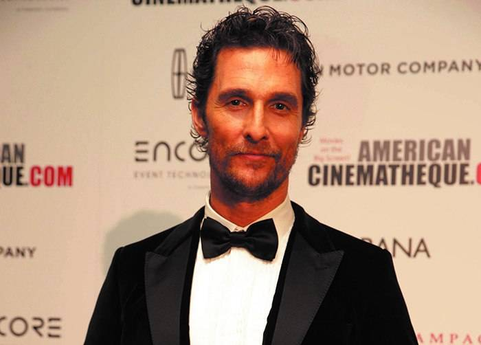 Matthew McConaughey seen at the 28th Annual American Cinematheque Awards Honoring Matthew McConaughey held at The Beverly Hilton on Tuesday, Oct 21, 2014, in Beverly Hills. (Photo by Eric Charbonneau/Invision for American Cinematheque/AP Images)