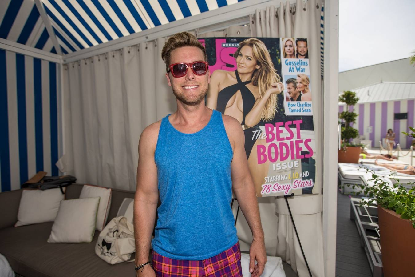 Former NSYNC member Lance Bass hosts the epic Us Weekly pool party at Foxtail Pool Club May 30_Andrew Dang