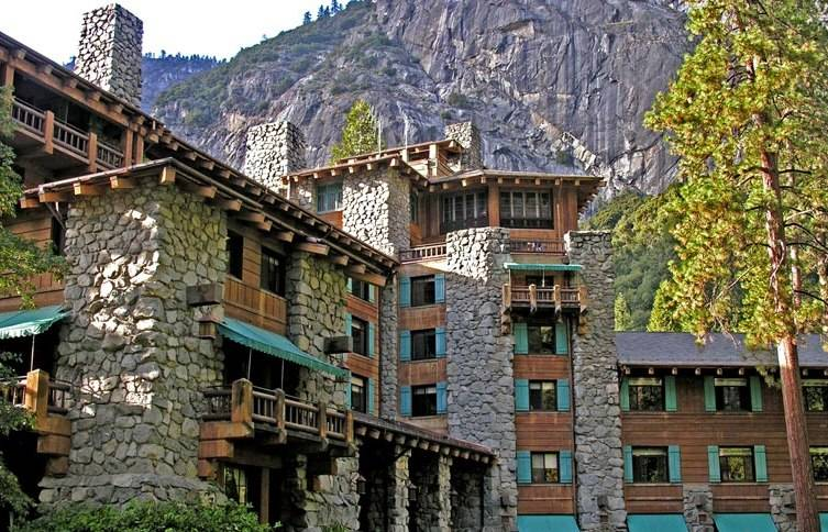 Exterior of The Ahwahnee