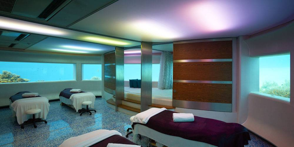 LIME Spa underwater treatment rooms at PER AQUUM Huvafen Fushi