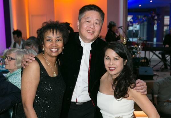 Anette Harris, David Seto and Sharon Seto