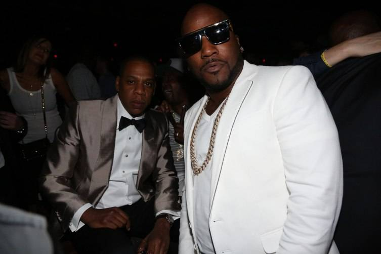 Jay Z and Young Jeezy attend D'USSE Presents Fight Weekend at Marquee.