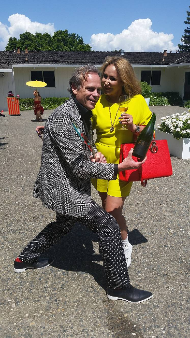 Jean Charles Boisset Cuts Up At His Wine Release Party