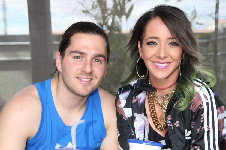 Jenna Marbles and boyfriend Julien Solomita at Ditch Fridays