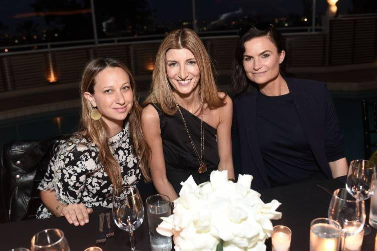 WEST HOLLYWOOD, CA - APRIL 29: Jennifer Meyer, Sarah Rutson and Rosetta Getty attend Crystal Lourd and Jacqui Getty Welcome NET-A-PORTER's Sarah Rutson To LA at Sunset Tower Hotel on April 29, 2015 in West Hollywood, California.  (Photo by Stefanie Keenan/Getty Images for NET-A-PORTER)
