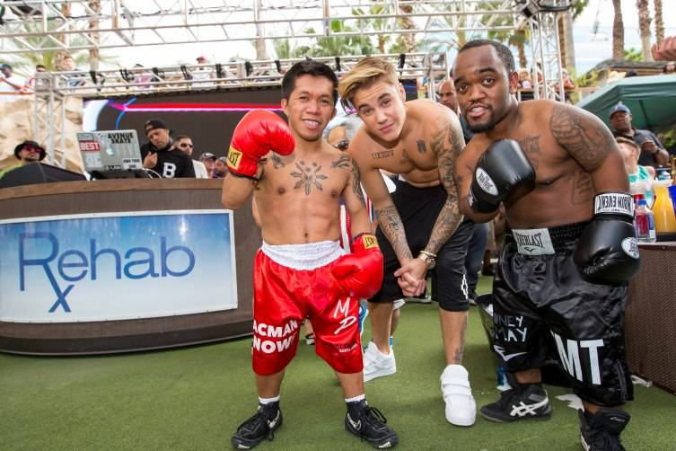 Justin Bieber hosts REHAB at Hard Rock Hotel in Las Vegas, NV
