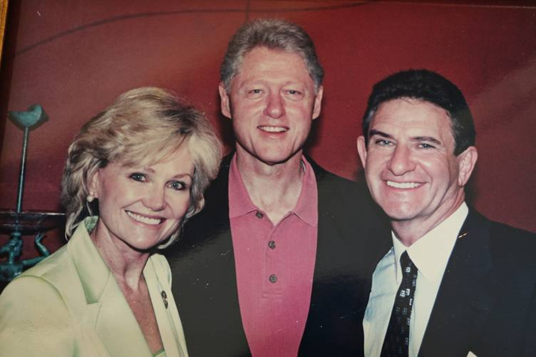 Kathryn Walt Hall, President Bill Clinton and Craig Hall