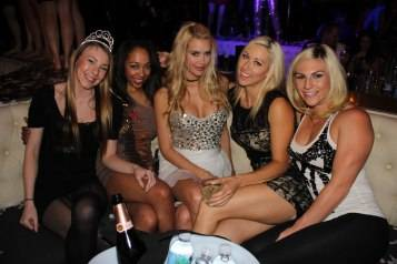 Kennedy Summers and Group of Friends at Chateau Nightclub