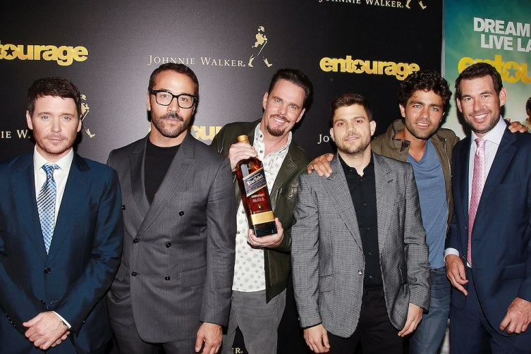 """- New York, NY - 5/27/15 - A Special New York Screening of """"Entourage"""" Presented by Johnny Walker Scotch Whiskey.     -PICTURED: Kevin Connolly,Jeremy Piven,Kevin Dillon,Jerry Ferrara,Adrian Grenier,Doug Ellin -PHOTO by: Dave Allocca/Starpix  -Filename: DA_15_3460.JPG -Location: Paris Theater  Startraks Photo New York,  NY For licensing please call 212-414-9464  or email sales@startraksphoto.com Startraks Photo reserves the right to pursue unauthorized users of this image. If you violate our intellectual property you may be liable for actual damages, loss of income, and profits you derive from the use of this image, and where appropriate, the cost of collection and/or statutory damages."""