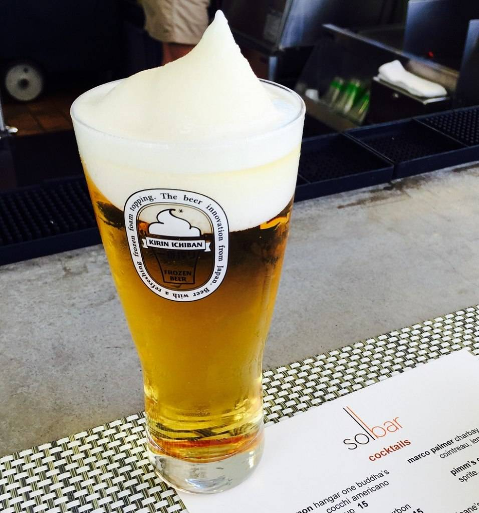 kirin frozen foam topping beer
