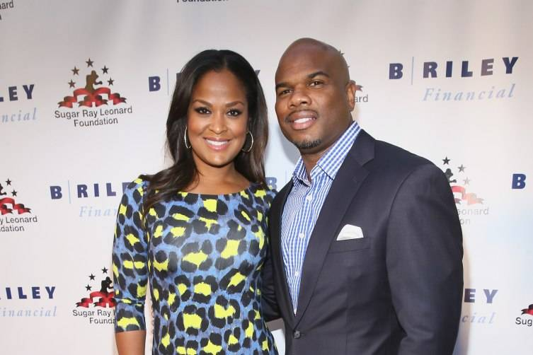 "HOLLYWOOD, CA - MAY 13:  Former Super Middleweight Champion Laila Ali (L) and former NFL player Curtis Conway attend B. Riley & Co. And Sugar Ray Leonard Foundation's 6th Annual ""Big Fighters, Big Cause"" Charity Boxing Night at The Ray Dolby Ballroom on May 13, 2015 in Hollywood, California.  (Photo by Mark Davis/Getty Images for Sugar Ray Leonard Foundation)"