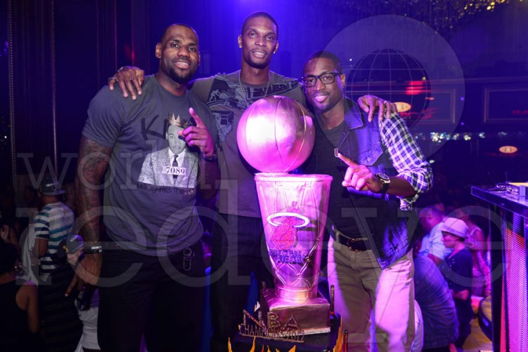 LeBron James, Chris Bosh, Dwyane Wade