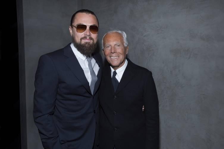 Leonardo DiCaprio and Giorgio Armani