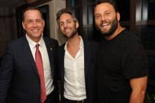 Miami Beach Mayor Philip Levine, Seth Browarnik, David Grutman