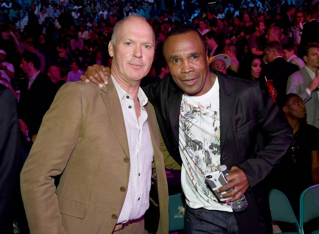 Michael Keaton and Sugar Ray Leonard