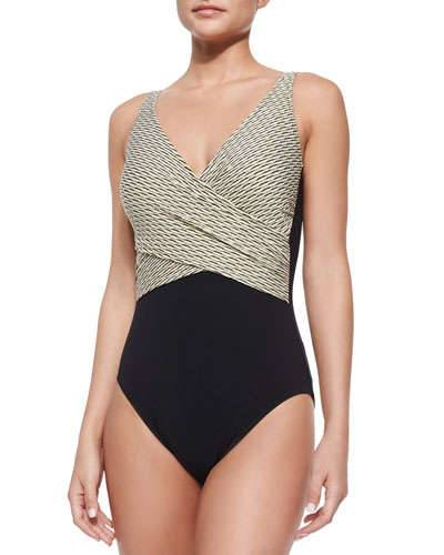 Gottex  Two-Tone One-Piece Swimsuit ($138)