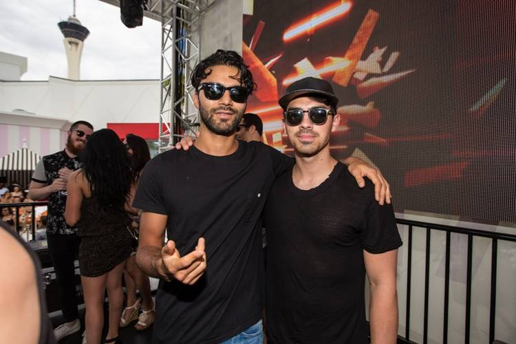 R3hab and Joe Jonas at Foxtail Pool Club, May 23_Andrew Dang